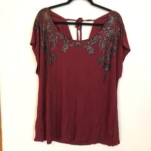 Lane Bryant Embellished Top - 18/20